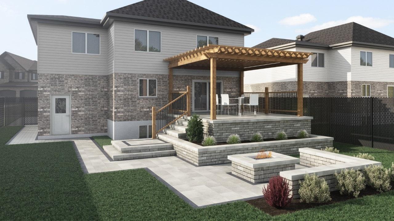 plan 3d paysagement terrassol